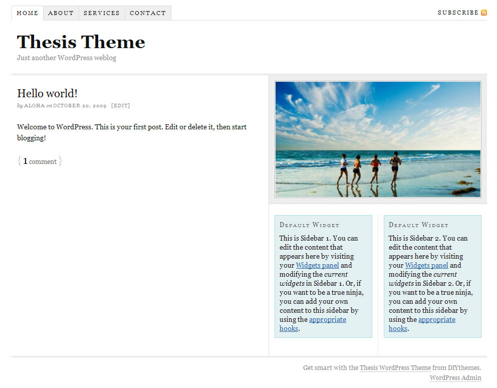 simplepress thesis skin A simple skin that was built for the joy of thesis 20, i call it legendary because it was the first skin to be released for the new version of thesis theme here is a link to its demo  check out the awesome skins and boxes for thesis →.
